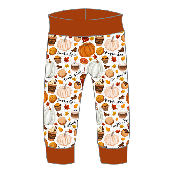 Grow With Me Joggers - Pumpkin Spice & Everything Nice