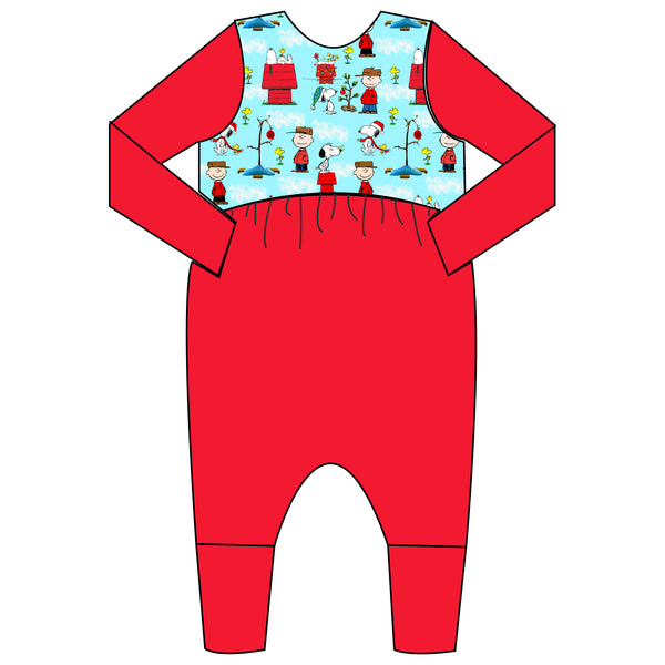 Relaxed Romper - Peanuts Holiday