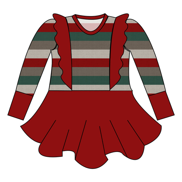 Peplum - Holiday Stripes