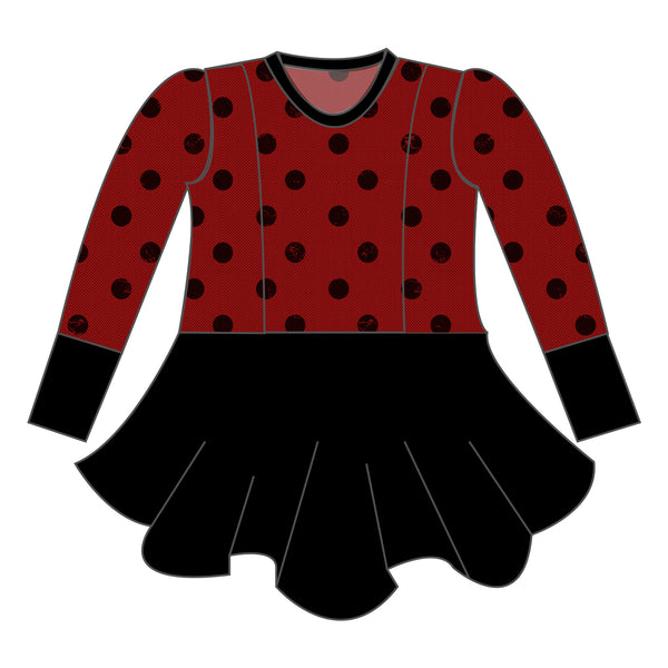 Peplum - Holiday Dots