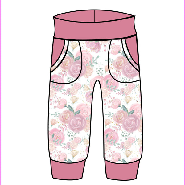 Grow With Me Joggers Cupids Garden - Ruff Stitched