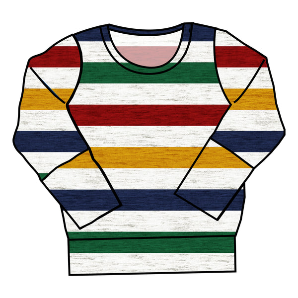 Primary Stripes Crewneck