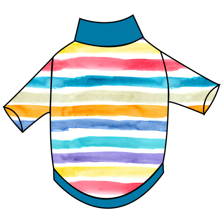 Rainbow Stripes T-Shirt - Ruff Stitched