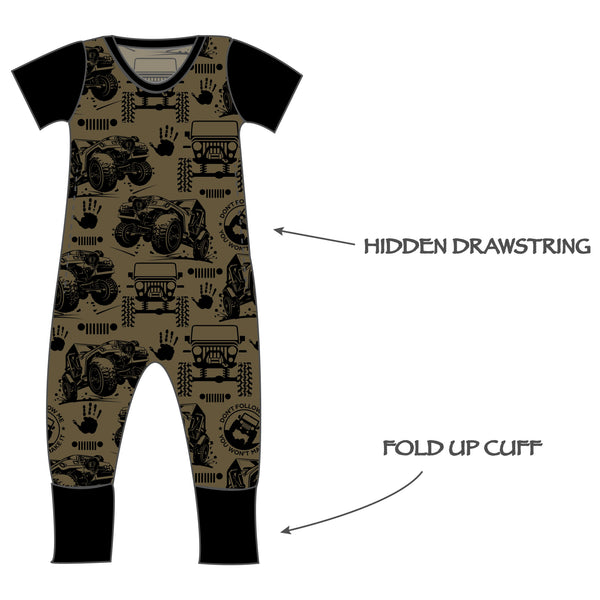 Grow with me Romper - Off Roading