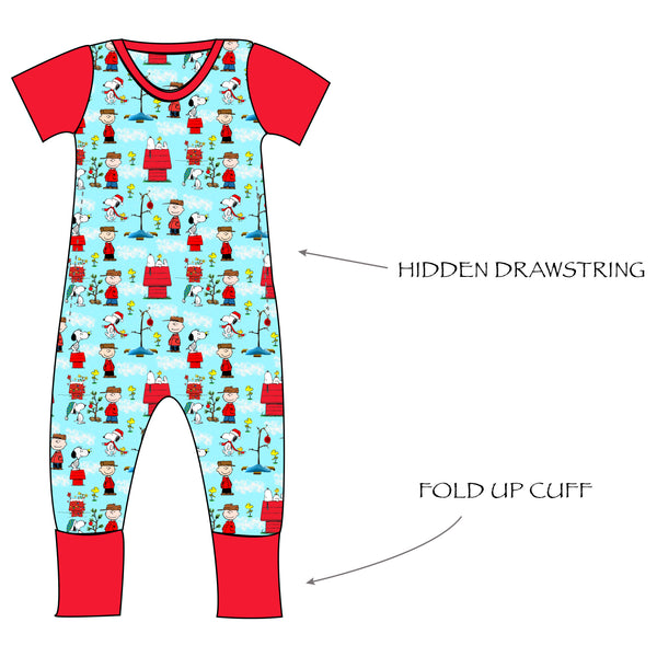 Grow with me Romper - Peanuts Holiday