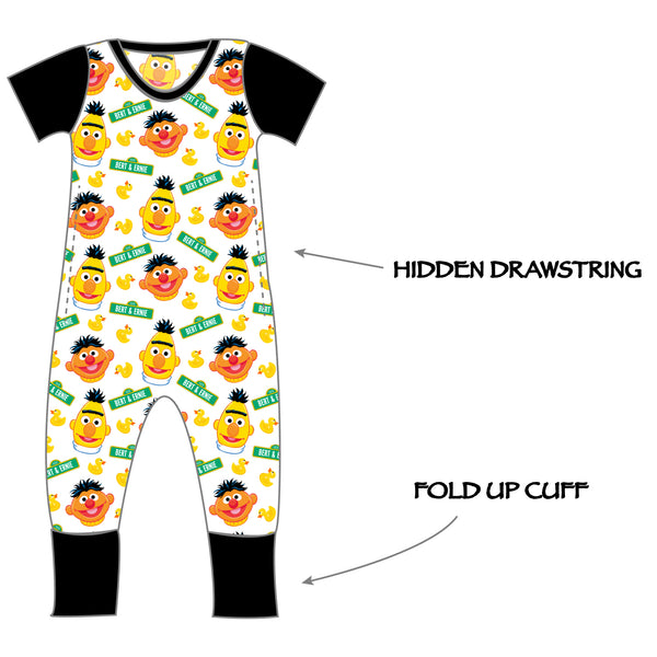 Grow with me Romper - Bert & Ernie Ducky Time