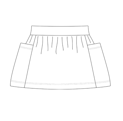Girls Pocket Skirt