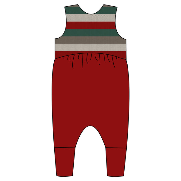 Relaxed Romper - Holiday Stripes