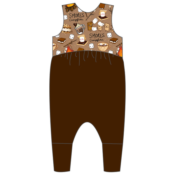 Relaxed Romper - I Love You S'more
