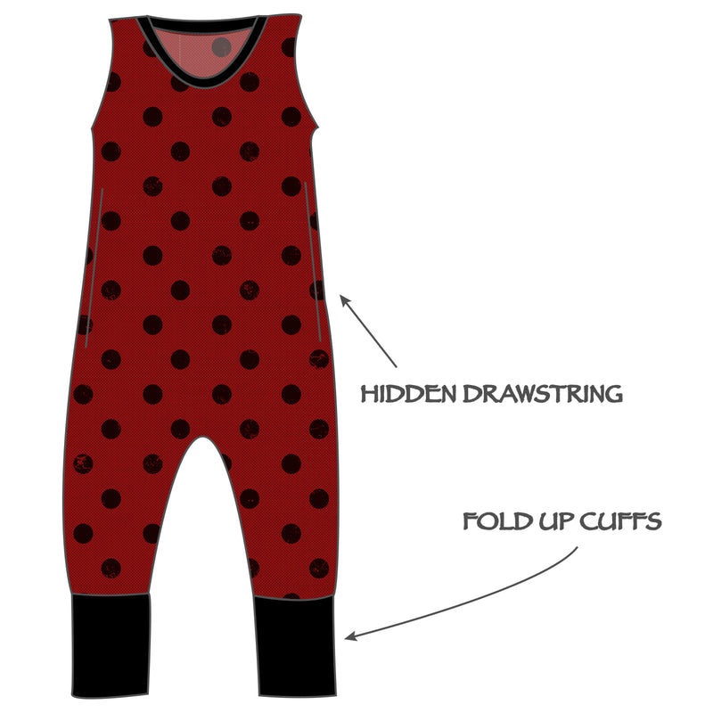Grow with me Romper - Holiday Dots