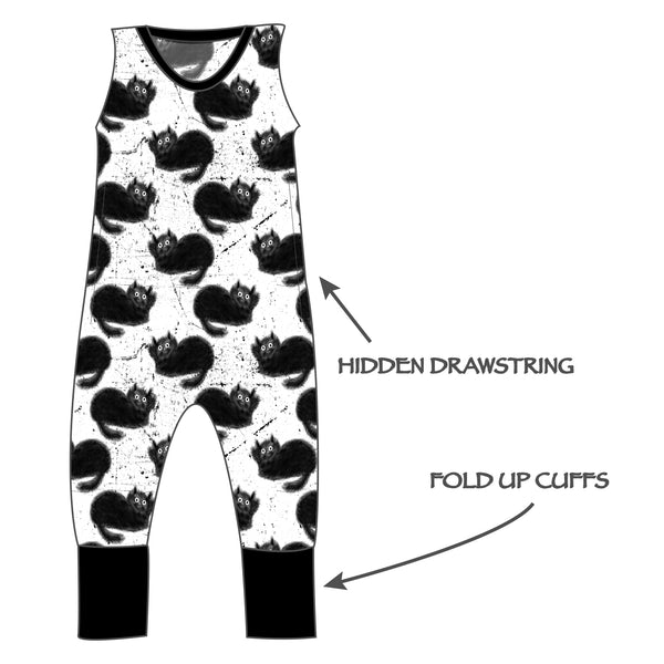 Grow with me Romper - Cat Is The New Black