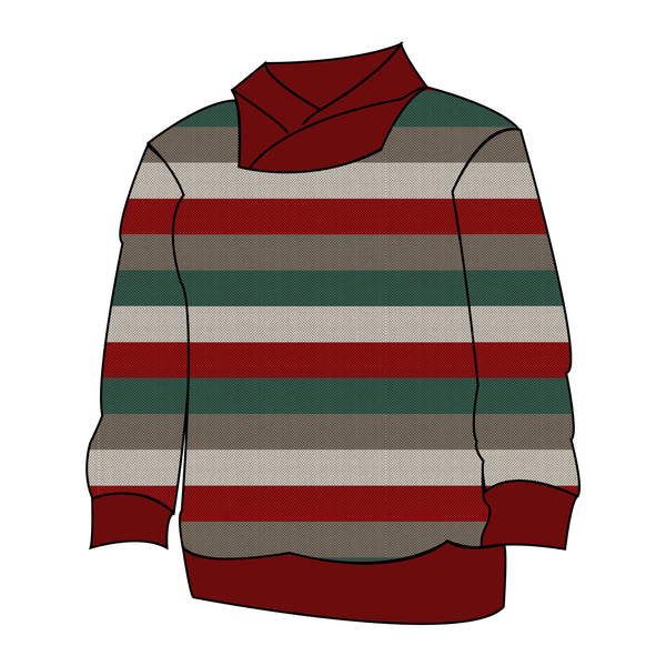 Varsity Pullover - Holiday Stripes