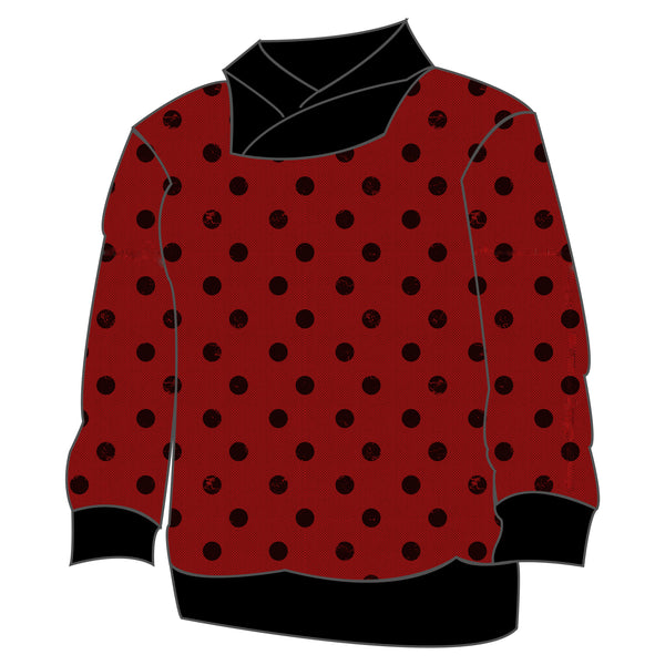 Varsity Pullover - Holiday Dots