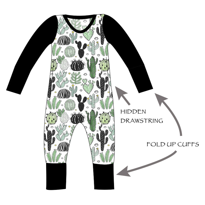 Grow With Me Rompers Long Sleeve - Ruff Stitched