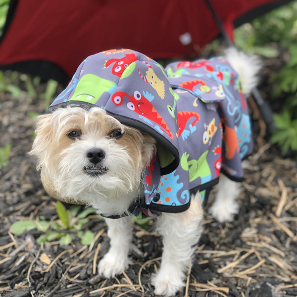 Monsters Raincoat - Water Resistant - Ruff Stitched