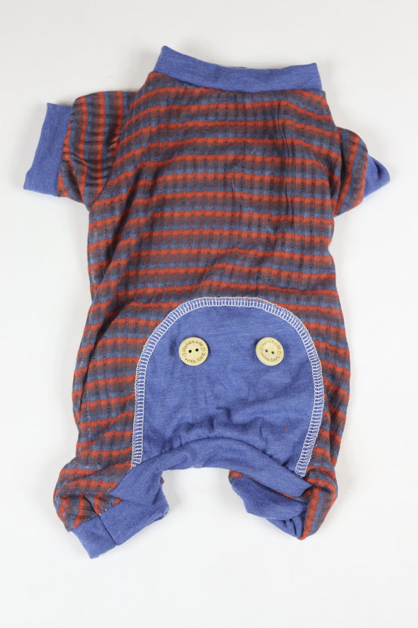 Onesies - Striped Blue Trim
