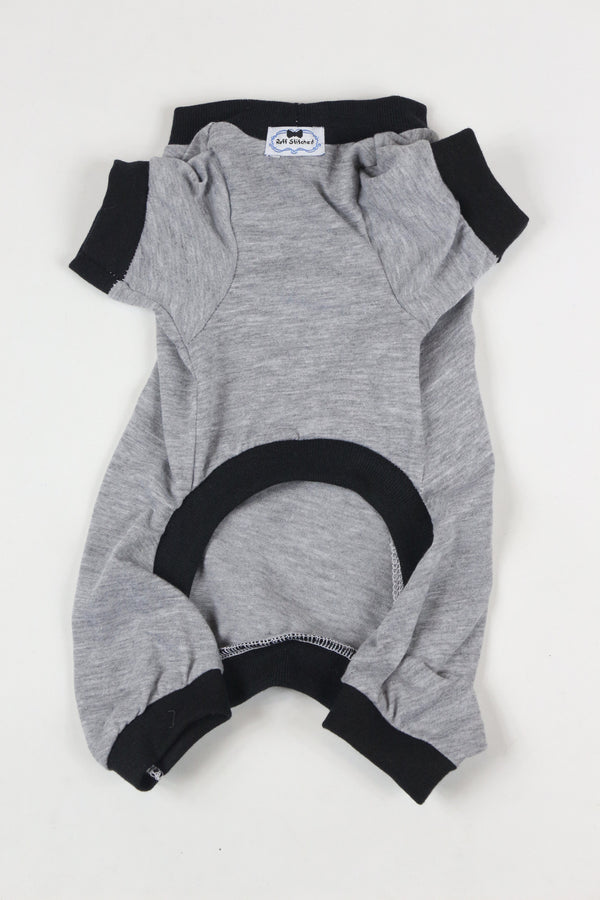 Lounge Around Onesie - Grey/Black - Ruff Stitched