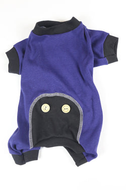 Lounge Around Onesie - Purple/Black - Ruff Stitched