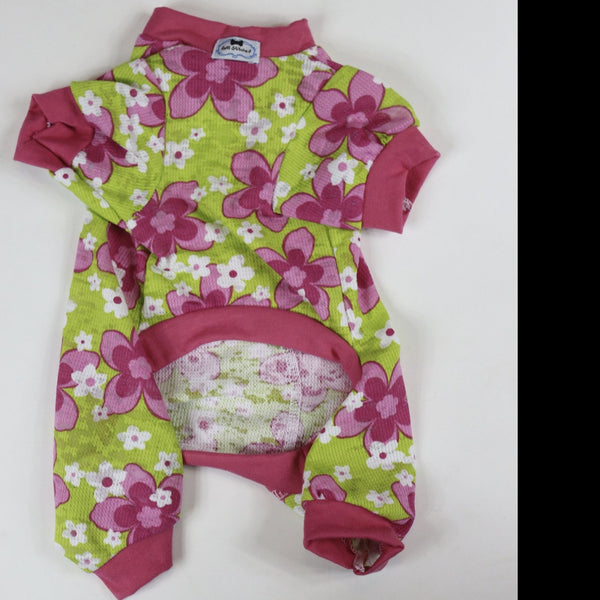 Onesies - Green Floral - Ruff Stitched