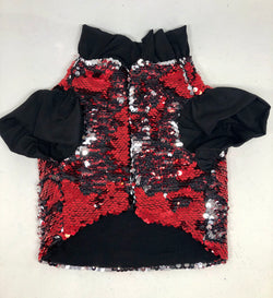 Flip Sequin Jacket - Red & Silver - Ruff Stitched
