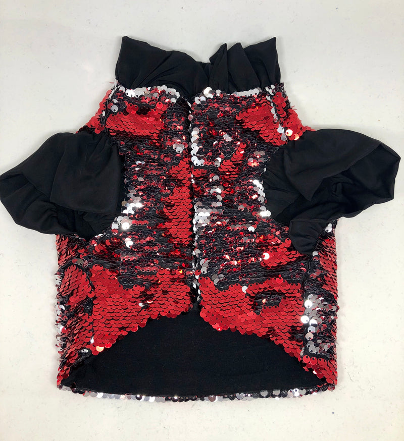 Flip Sequin - Red & Silver Jacket - Ruff Stitched