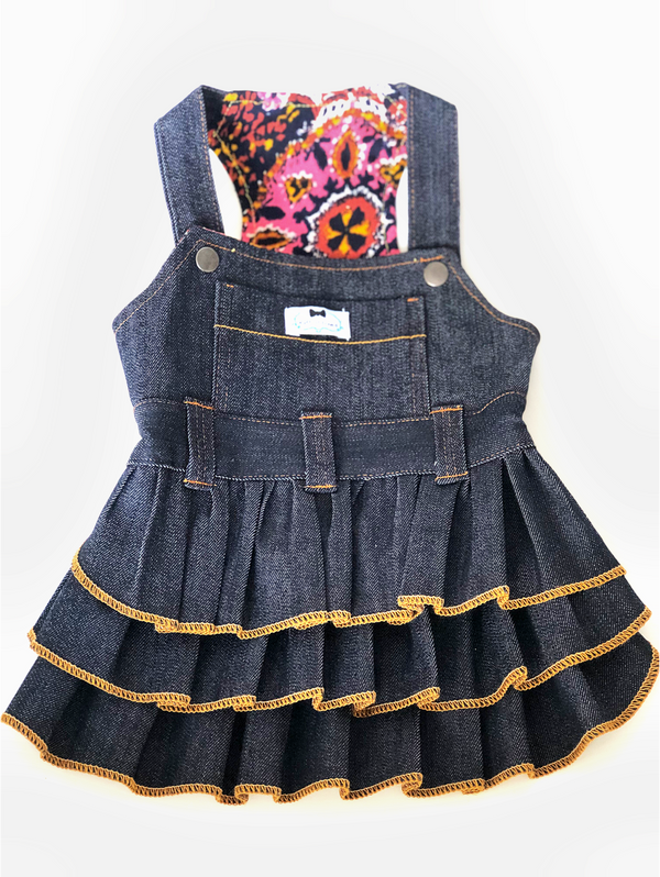 Puperall Dress - Denim - Ruff Stitched