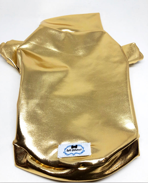 Metallic T-Shirt - Gold - Ruff Stitched