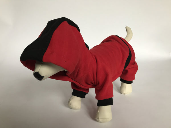 DOGAwear - Red & Black Shadow Stripe - Ruff Stitched