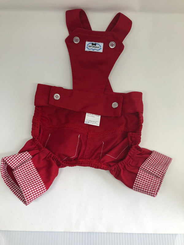 Puperalls - Red Gingham - Ruff Stitched