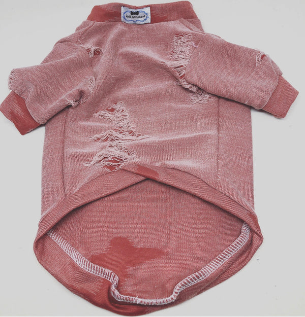 Jersey Shirt - Distressed Blush Pink - Ruff Stitched