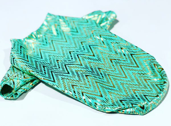 Mint Chevron Hologram T-shirt - Ruff Stitched