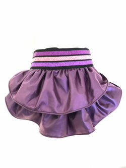 Electric Purple Faux Leather Skirt