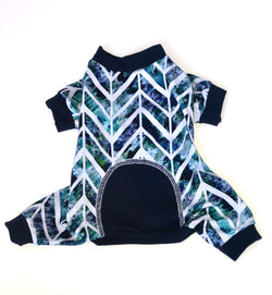 Holiday Chevron Onesie - Ruff Stitched