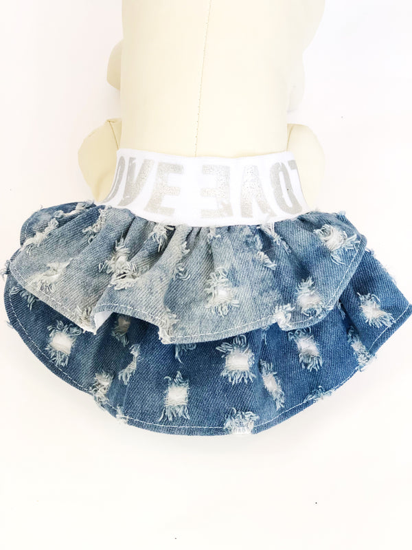 Distressed Denim - Skirt - Ruff Stitched