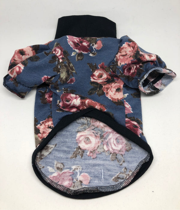Victorian Floral Pink Roses - Ruff Stitched