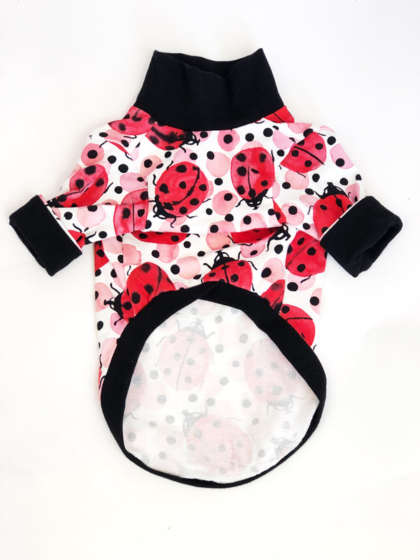High Neck Jersey Shirt - Lady Bug