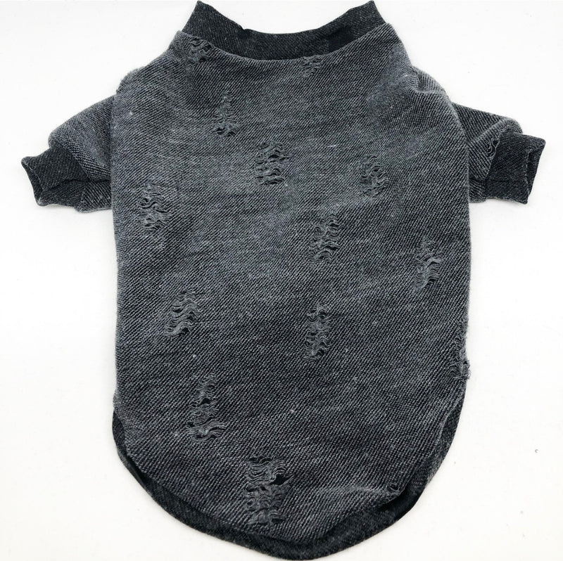 Jersey Shirt - Distressed Charcoal Grey