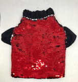 Flip Sequin Jacket - Red & Silver