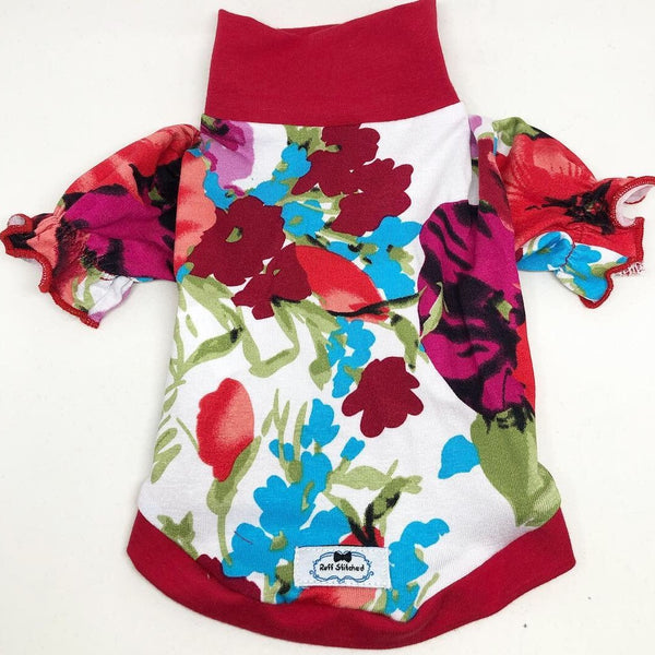 Victorian Floral T-Shirt - Poppy Field - Ruff Stitched