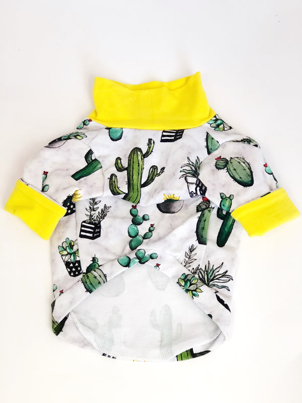 High Neck Jersey Shirt - Looking Sharp Cacti - Ruff Stitched