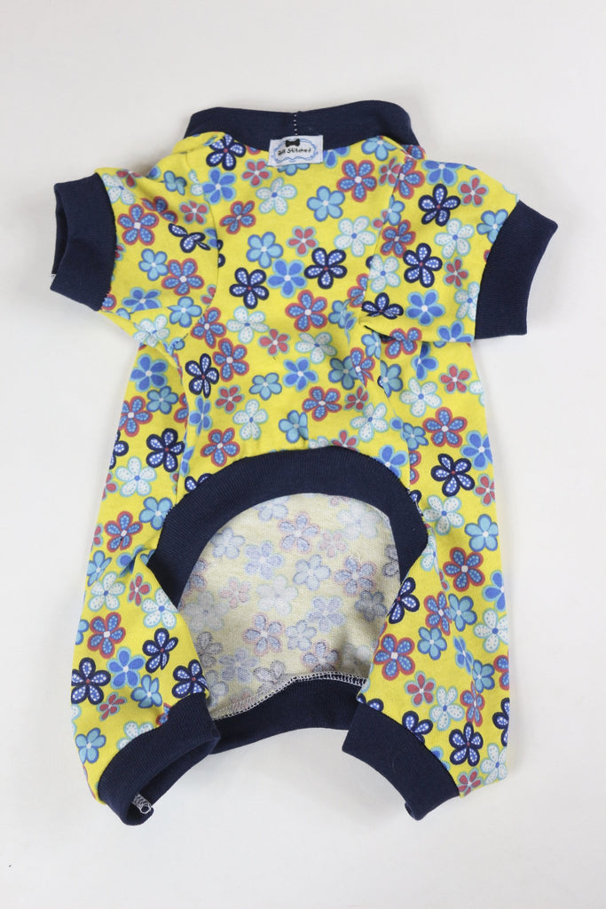 Onesies - Yellow/Navy Floral