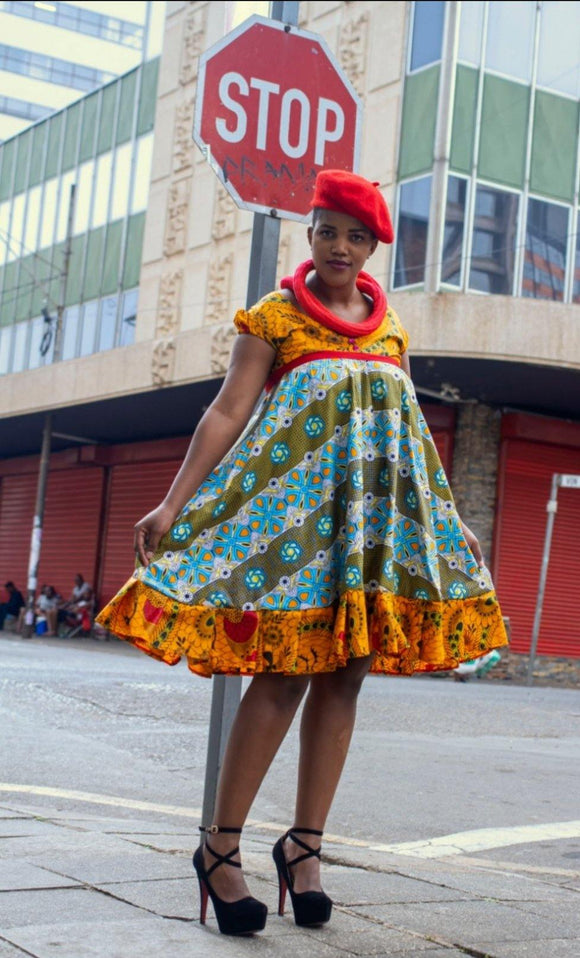 URBAN ZULU: Van Tuka Green Dress - URBAN ZULU