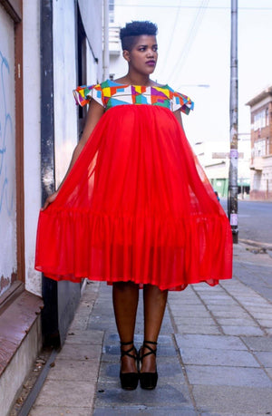 Urban Zulu: Sbonelo Red Dress - URBAN ZULU