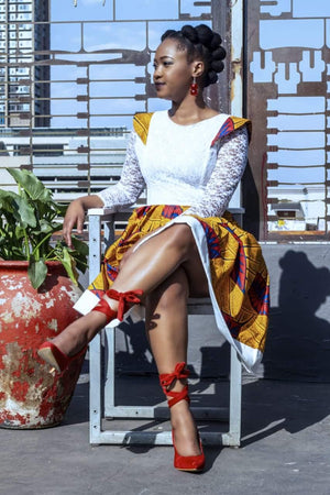 URBAN ZULU: Langa White Dress - URBAN ZULU