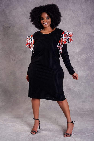 Sponono black dress - URBAN ZULU