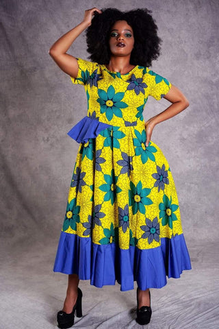 Fiesta Long Dress - URBAN ZULU