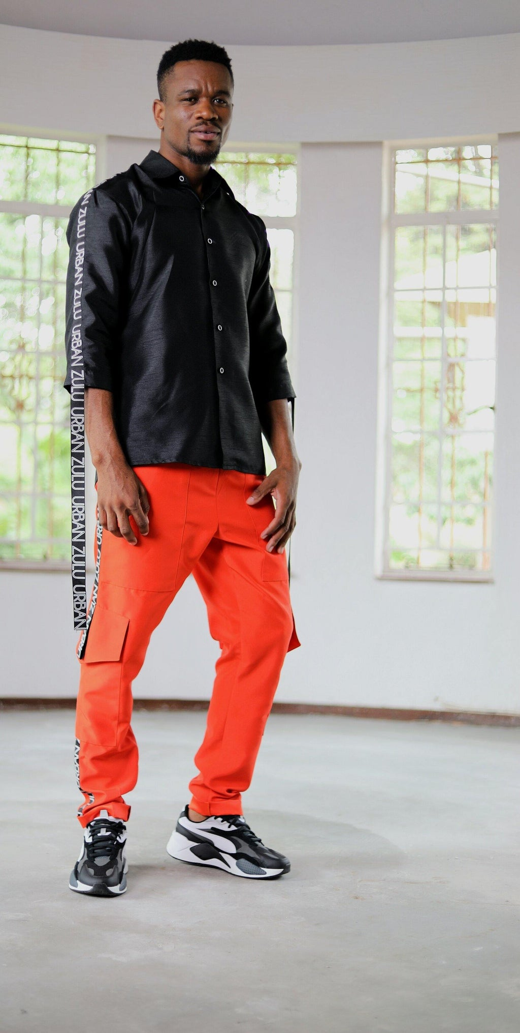 Mara Orange Pant - URBAN ZULU