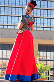 Sandiswa Long Red Dress