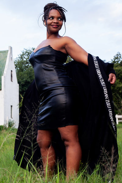 Black Love Leather Dress