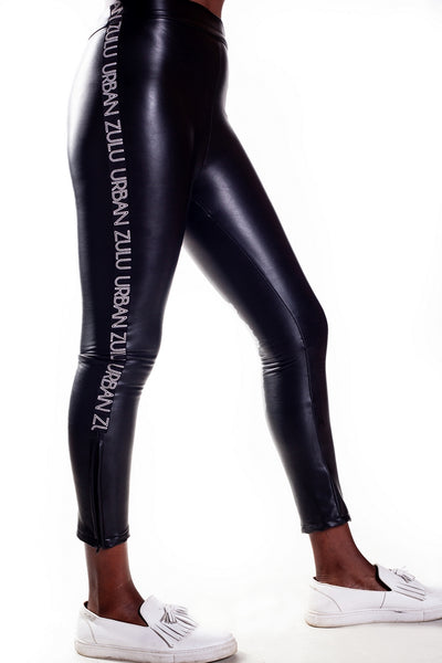 Black Love Leather Pants